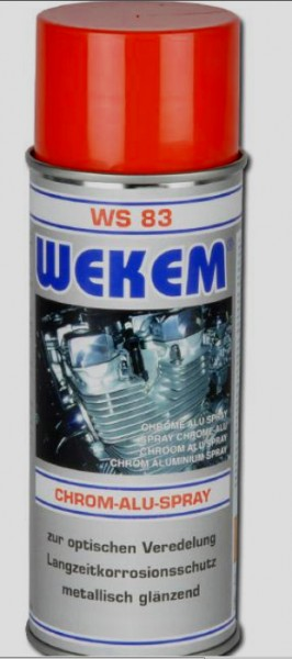 Wekem Chrom-Alu-Spray / 12 Spraydosen